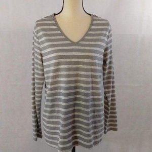 Faded Glory Top Size Large (12-14) Gray